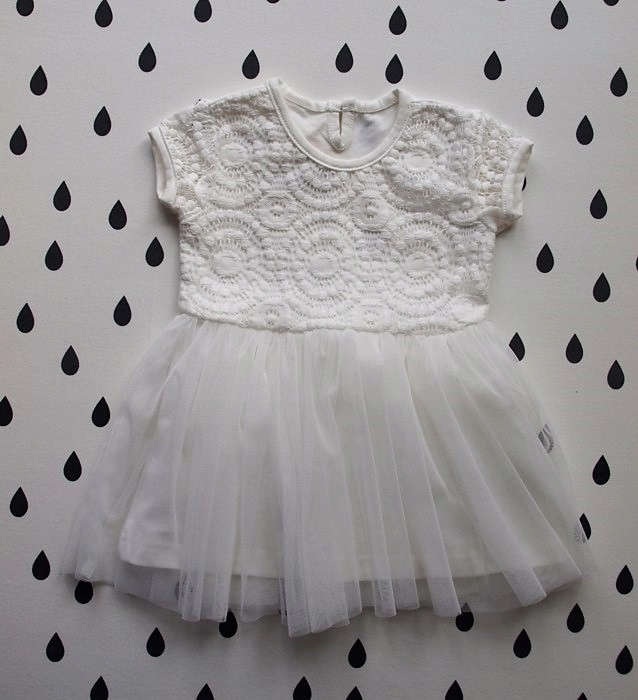 e3a7a084d8 sukienka r80 CHRZEST WESELE bawełna+tiul POLSKA - 7633433019 ...