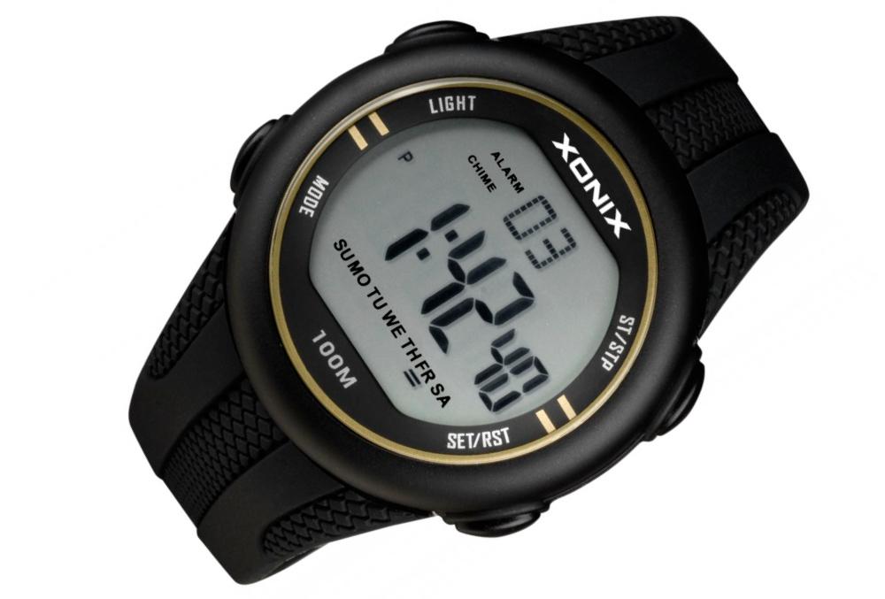 XONIX duży sportowy wodoszczelny zegarek prezent