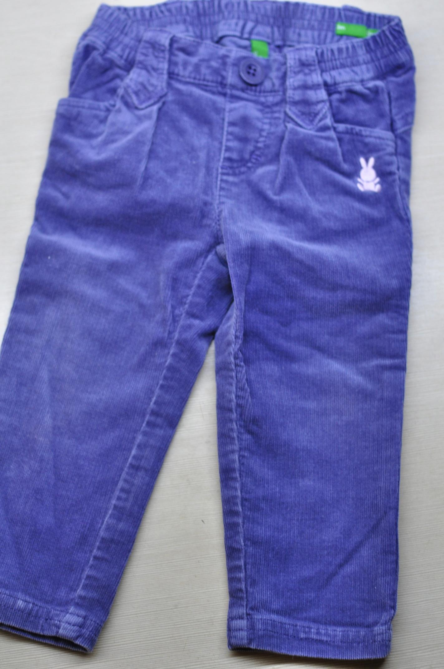 Spodnie sztruksowe Benetton 74 9 - 12 m.
