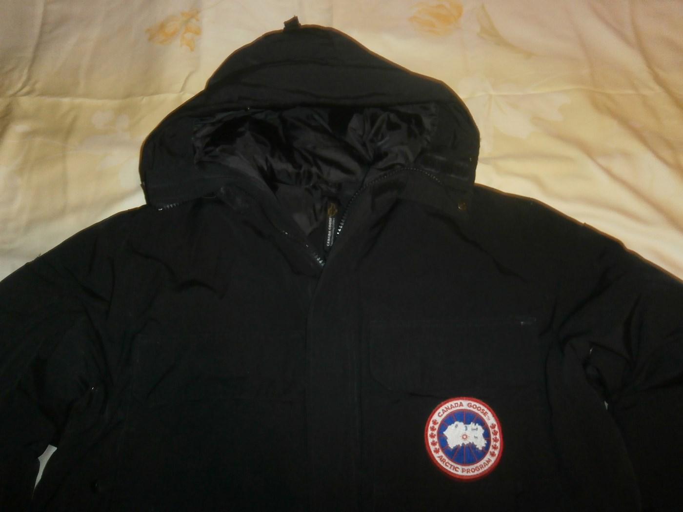 canada goose płaszcz puchowe czarne