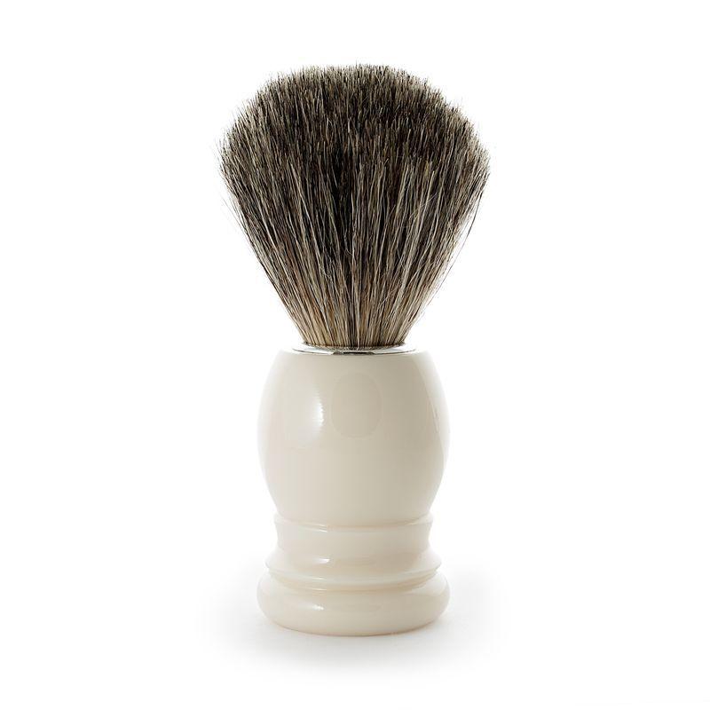 Delikatne Włosie Borsuka Pędzel do golenia Biały