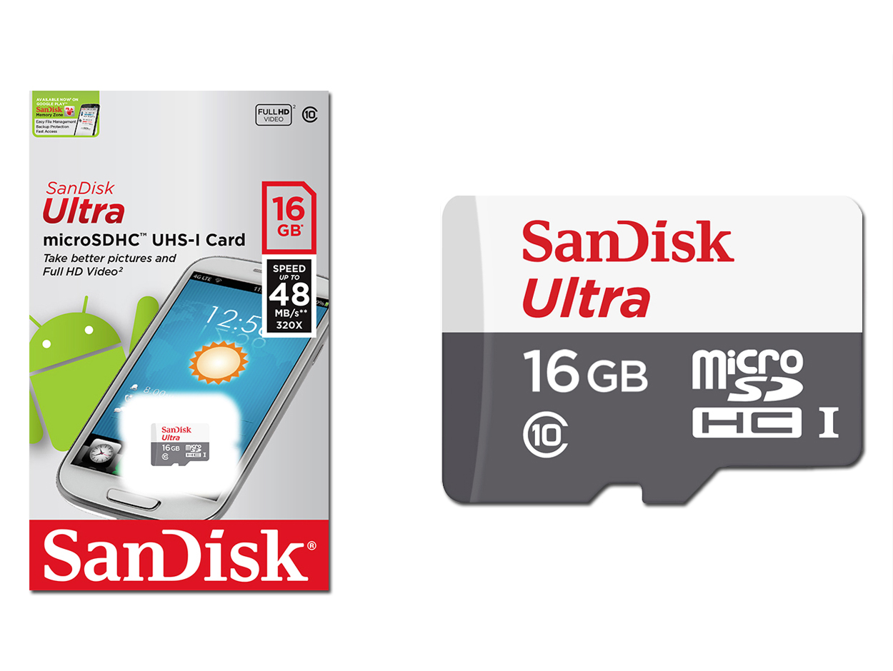 Sandisk Microsd Sdhc Ultra 16gb Class 10 Android 6239895541 Micro Sd Speed 80mb S Uhs 1 16 Gb
