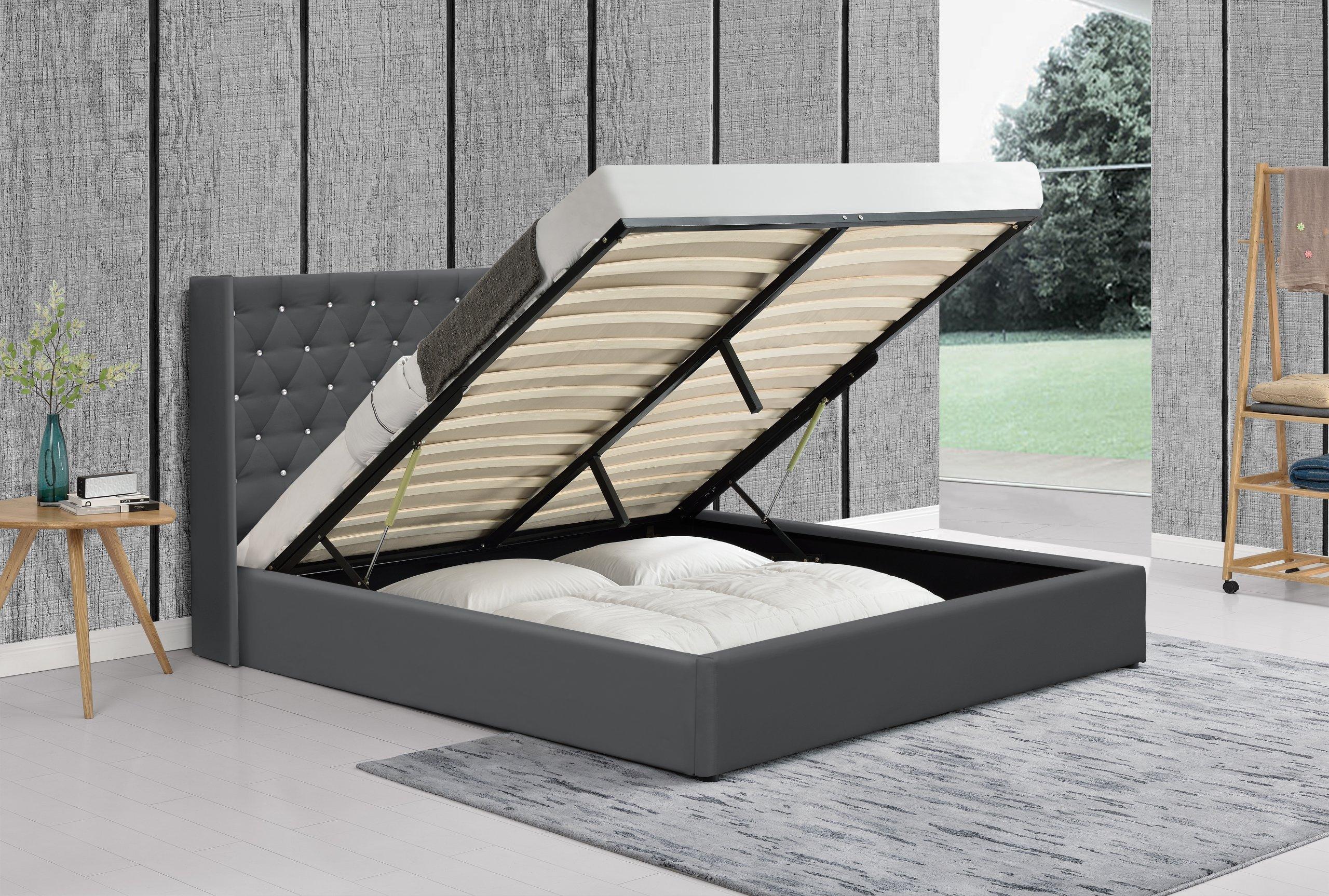 łóżko Tapicerowane 1231g 140x200 Z Materacem 6872808868