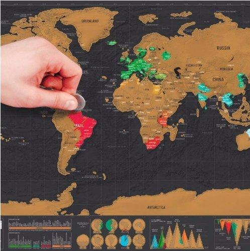 82 X 59 Cm Mapa świata Europy Zdrapka Plakat