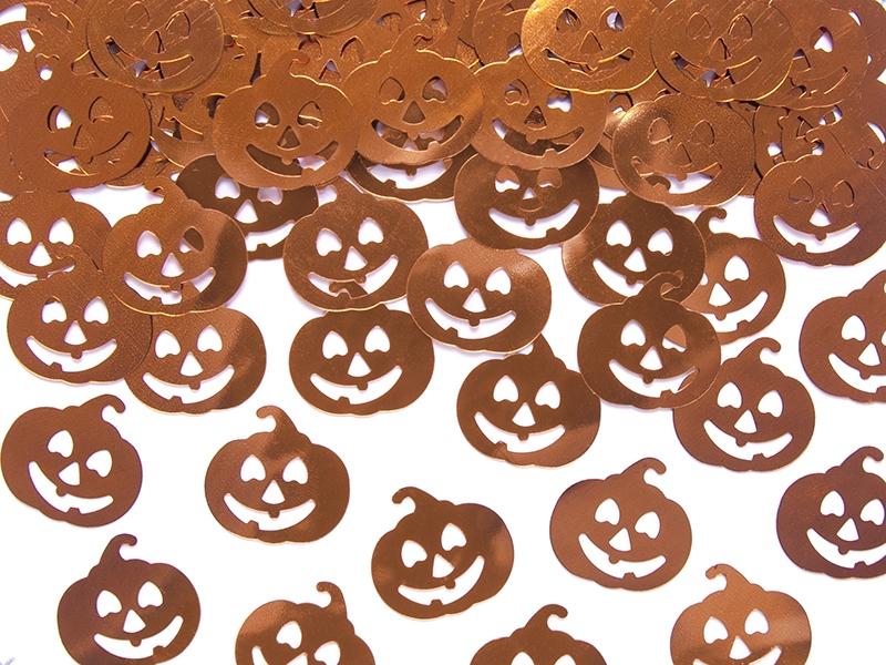 KONFETTI DYNIE metalik Halloween Dekoracja stołu
