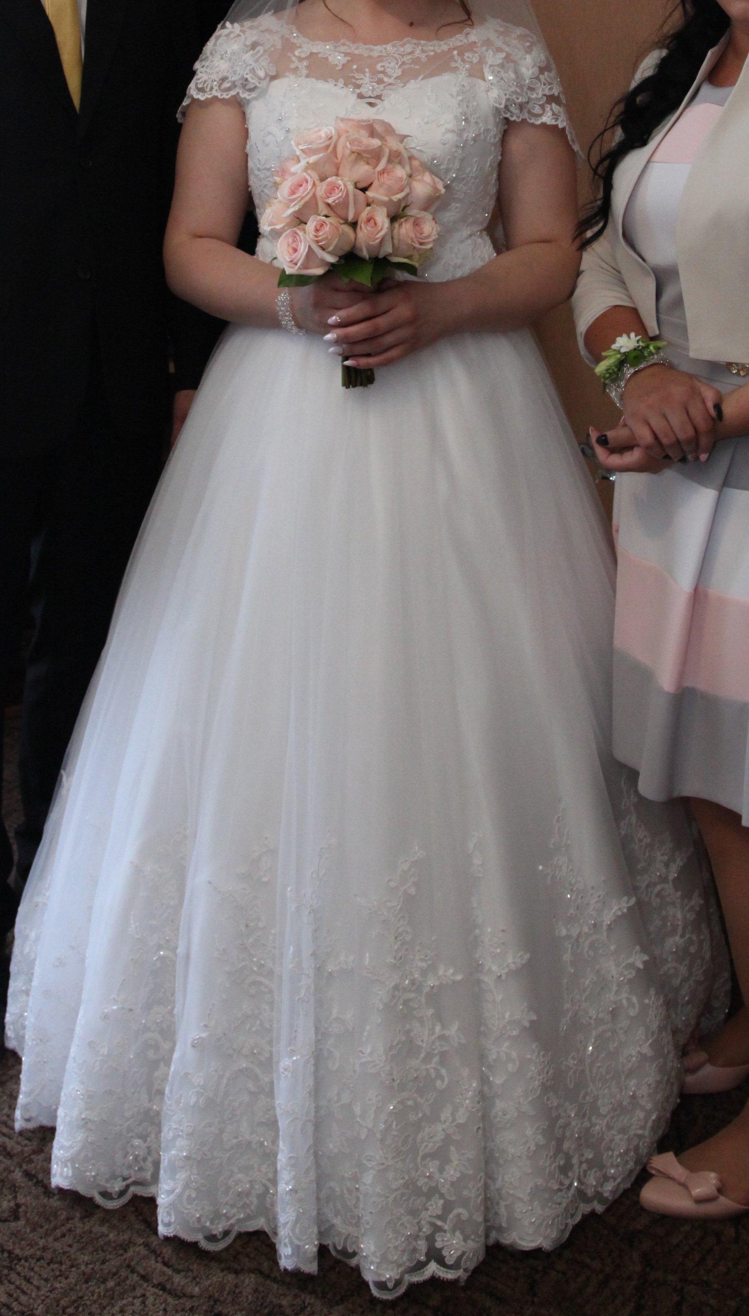 Koronkowa Suknia ślubna Kryształki Swarovski 7359249966