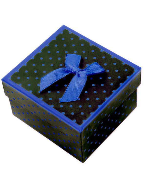 2f81d0371fe1bd Niebieskie pudełko prezentowe na zegarek kropeczki - 7163986335 ...