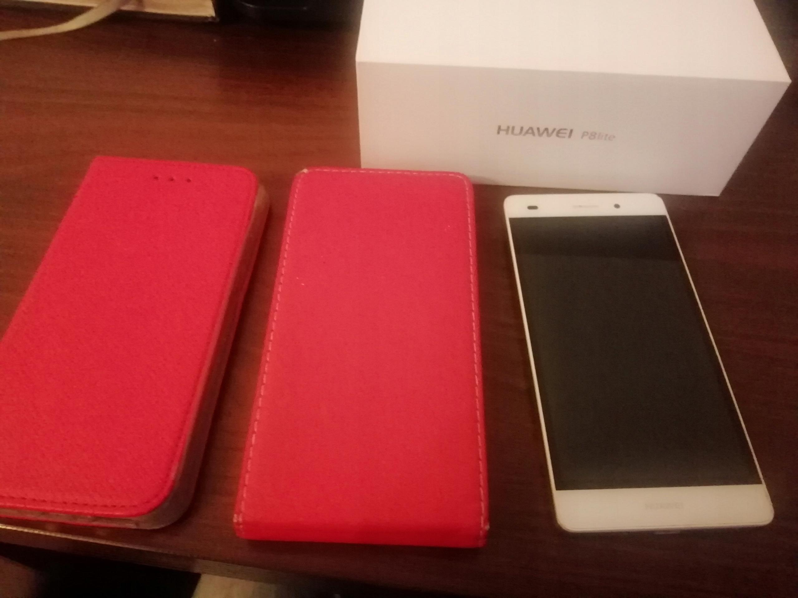 Huawei P8 Lite Biały 2x Etui