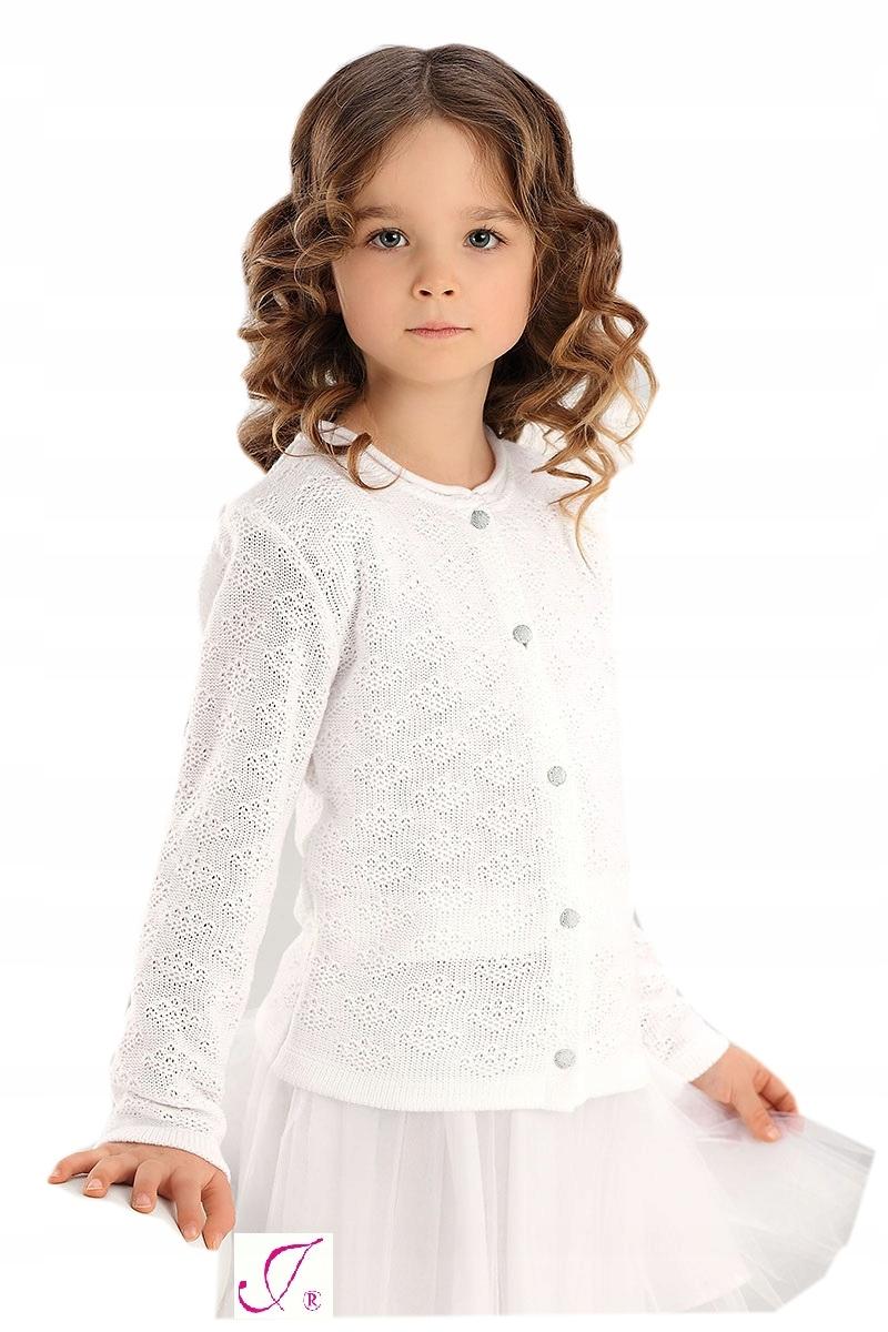 e96af02d64 Jomar biały sweterek ażurek 719 Komunia 128 - 7339773524 - oficjalne ...