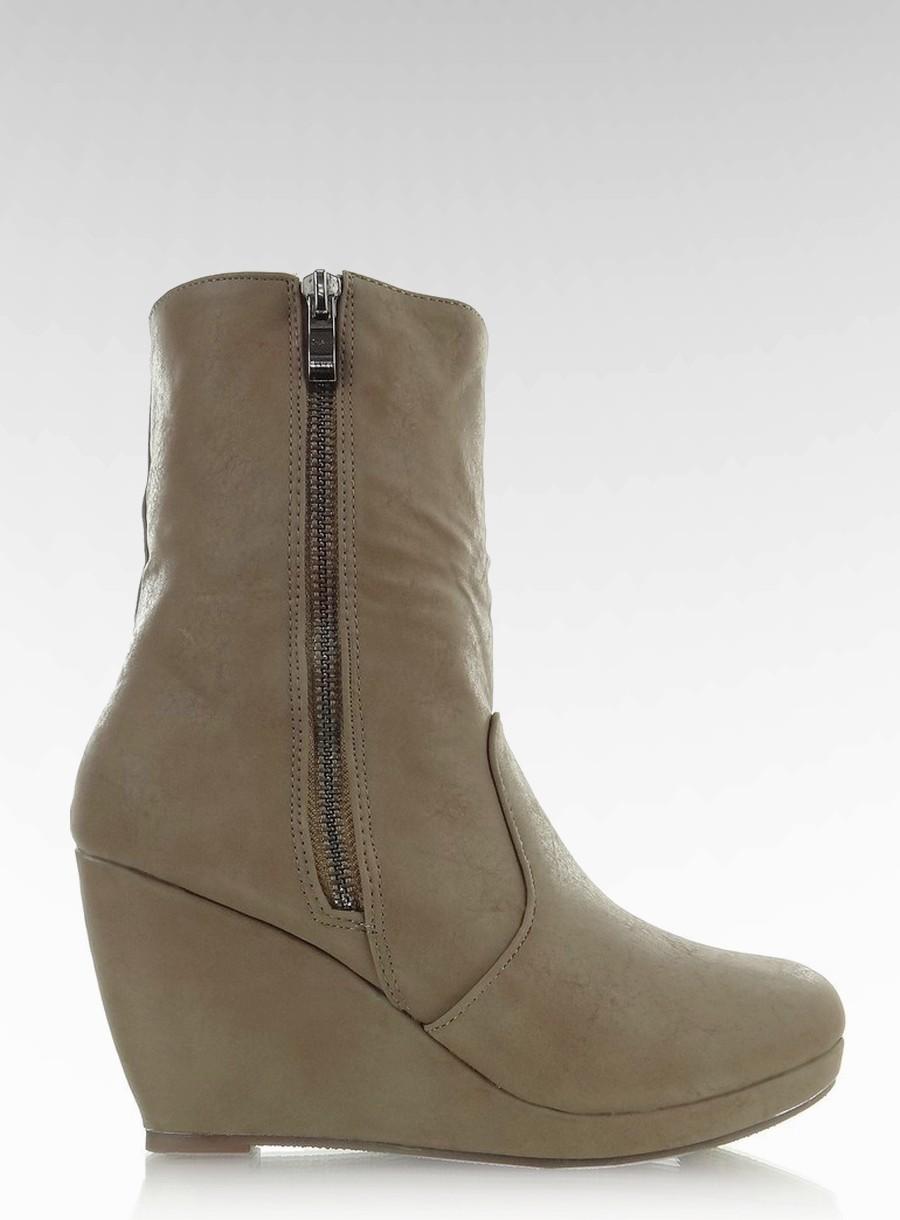 1733f7f0 Botki koturn Khaki 37 super obuwie wygodne okazja - 7147649173 ...