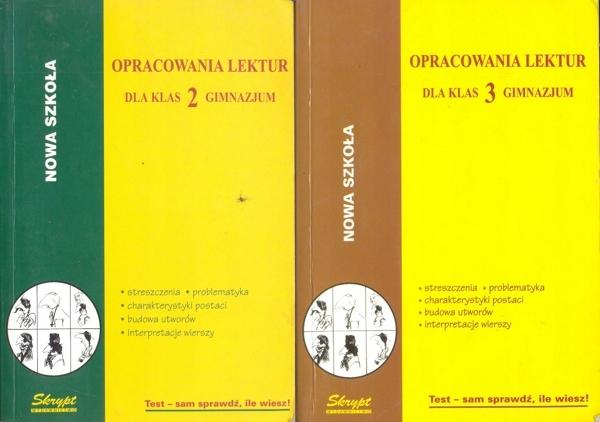 Opracowania Lektur Dla Gimnazjum Klasa 2 I 3 7262075219
