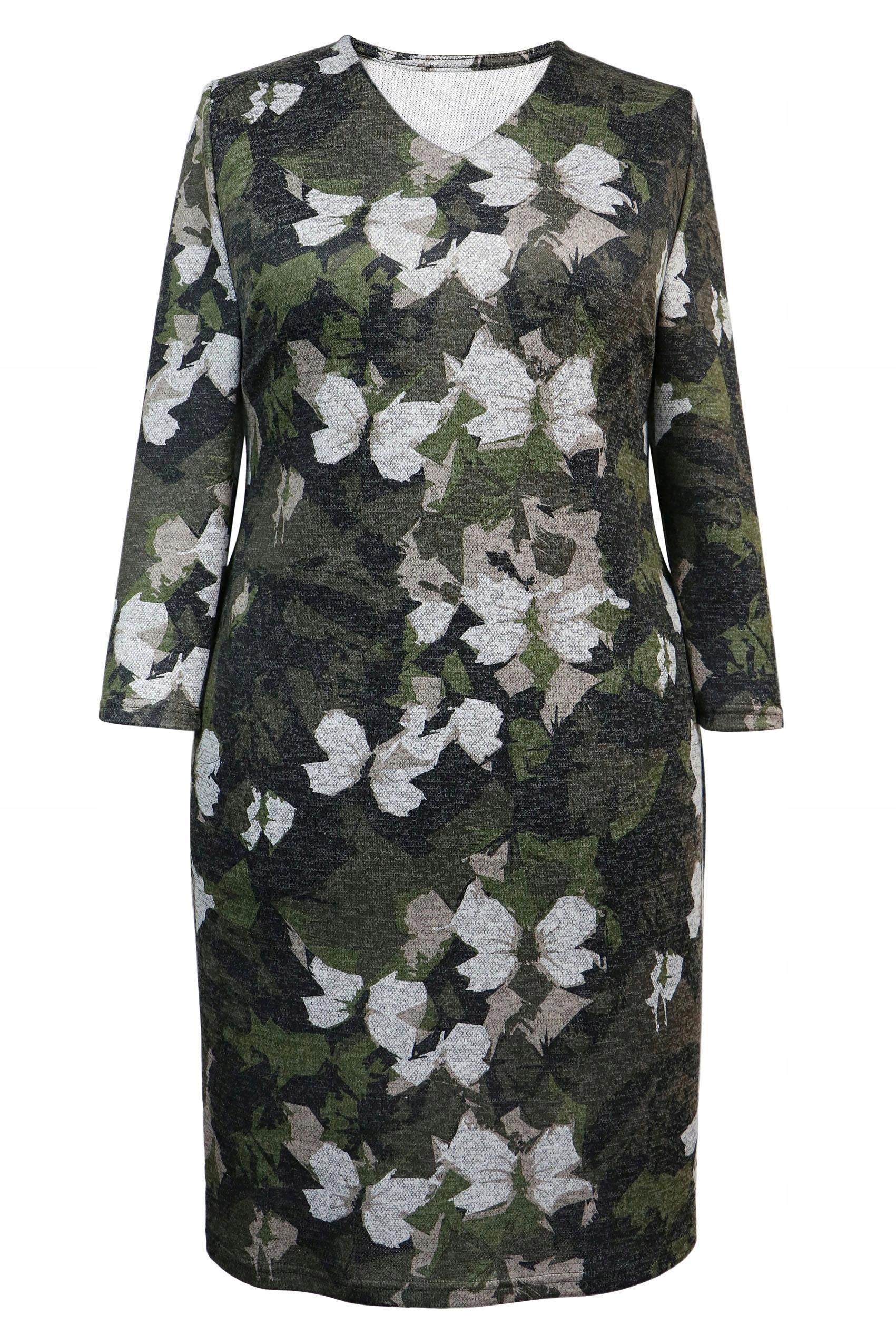 51d9d5c26d sukienka BABABABIE ołówkowa deseń kwiaty 54 - 7598531489 ...