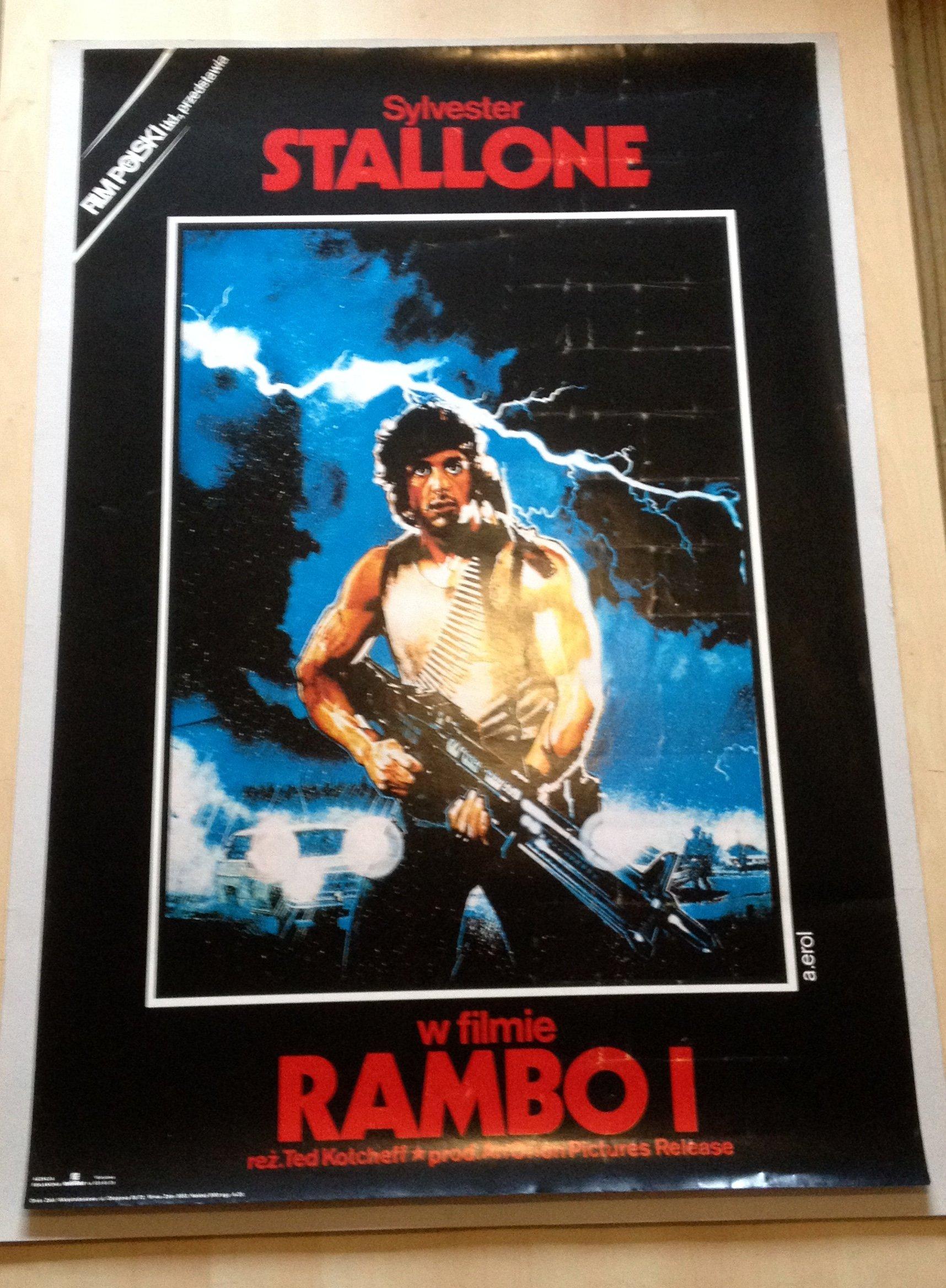 Plakat Kinowy Rambo1990 Sstallone Erol