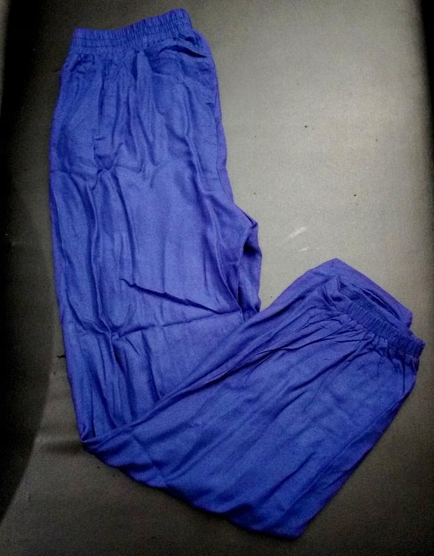 f37567103499d5 zwiewne wygodne cienkie spodnie na gumce r.38 - 7154919852 ...