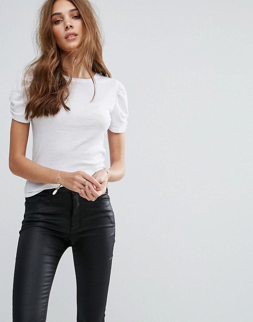 f4b9c473536072 New Look biała bluzka marszczone rękawy 38 - 7223163335 - oficjalne ...