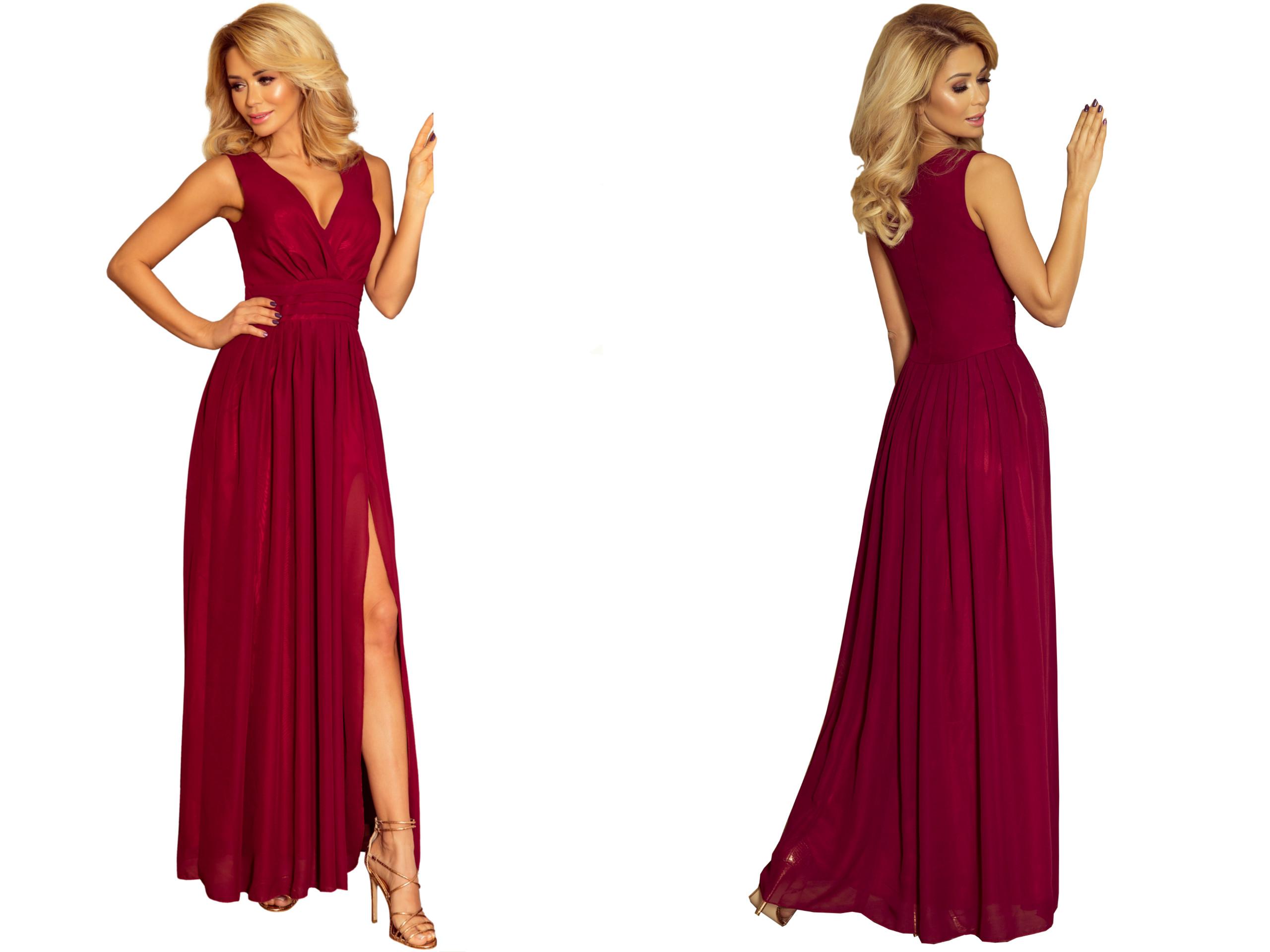08130bfa7dba02 Suknia MAXI WIECZOROWA Studniówka Wesele 166-3 XL - 7288056522 ...