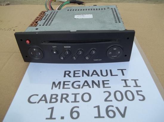 Renault Megane Ii 04r Oryginalne Radio Samochodowe 5933578301