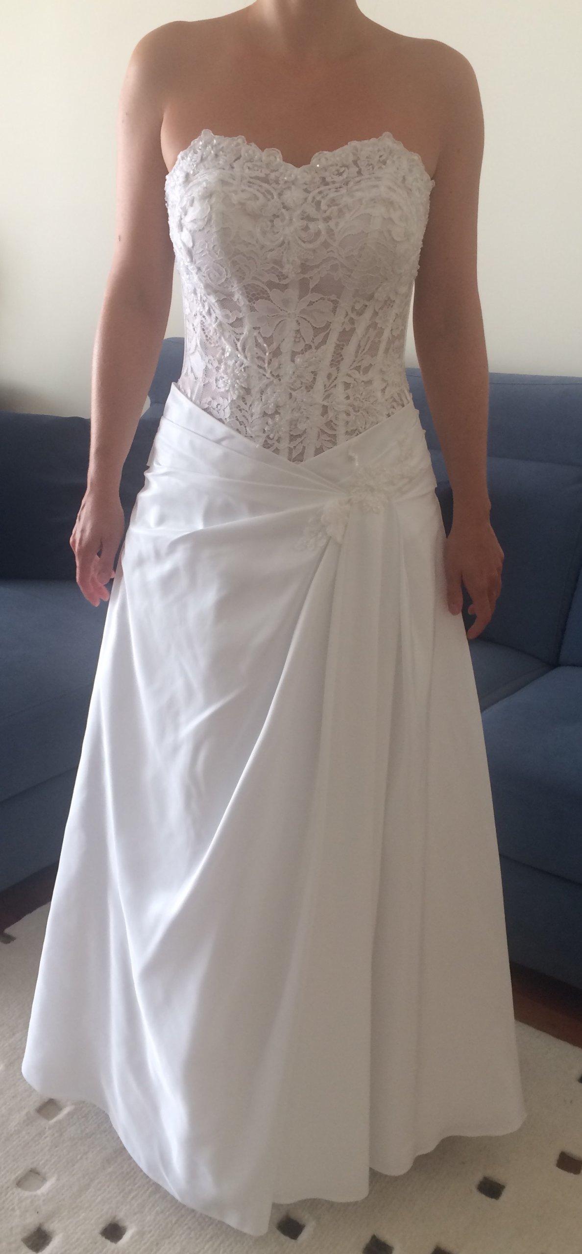 8294afb645 Urocza suknia ślubna Emmi Mariage Gloria 36   38 - 7253781818 ...