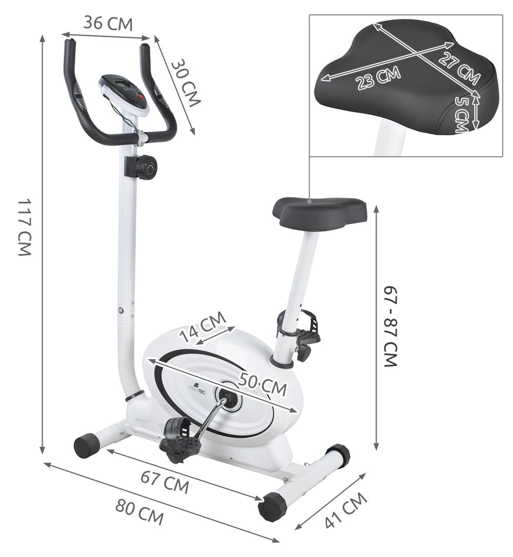 Rower Stacjonarny Treningowy Magnetyczny Biały 7186102397