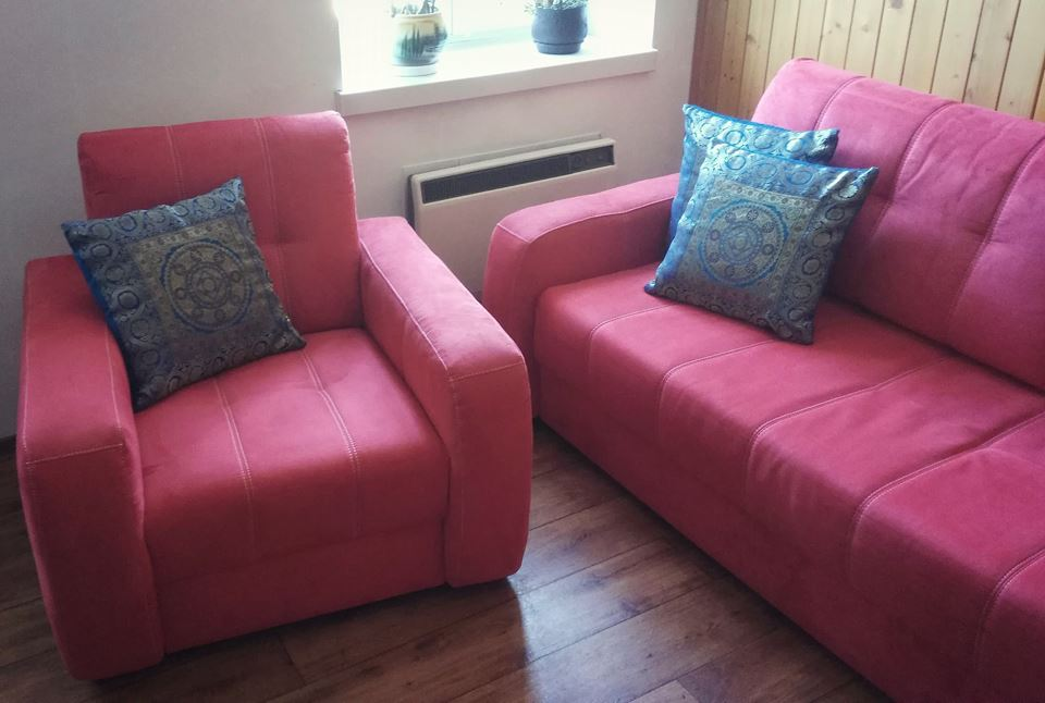 Sofa W Kolorze Malinowy Piękna 7409313188 Oficjalne