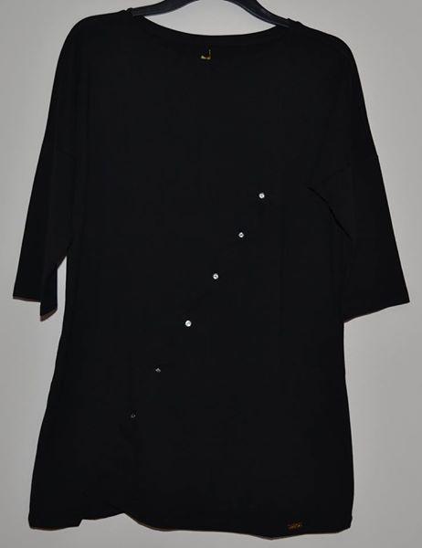 MEGI piękna czarna tunika z kamieniami 42 44 46
