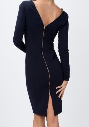 Sukienka Fasardi Granatowa 38 M Złoty suwak!!!