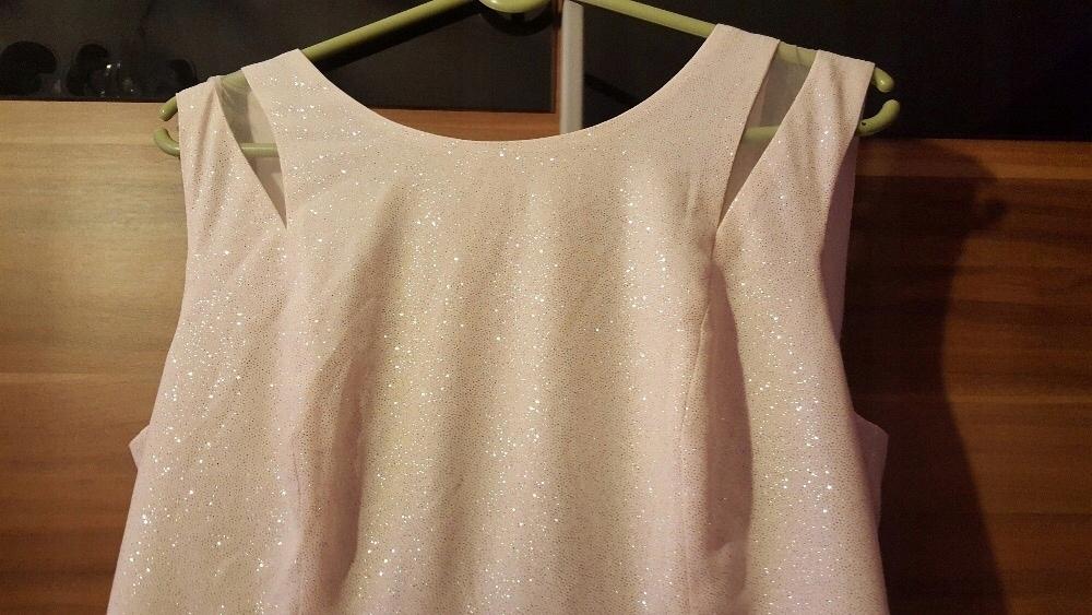 Sukienka ślubwesele roz XL mieniąca nowa De facto