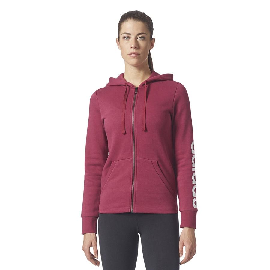 Bluza adidas ESS LIN FZH FL BR2448 Czerwony XS