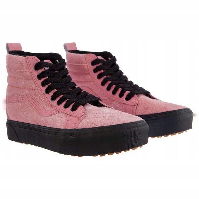 Różowe Zamszowe Trampki Vans r.37