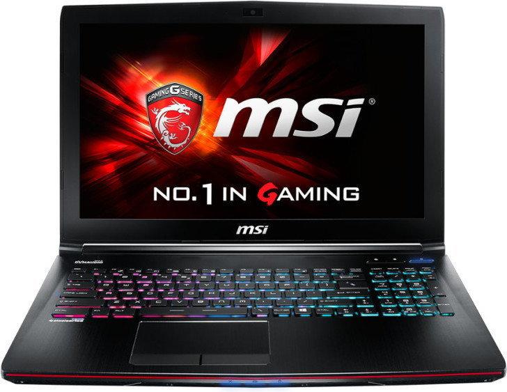 MSI GP62MVR i7-7700HQ 16 1TB 256SSD GTX1060 6GB 10