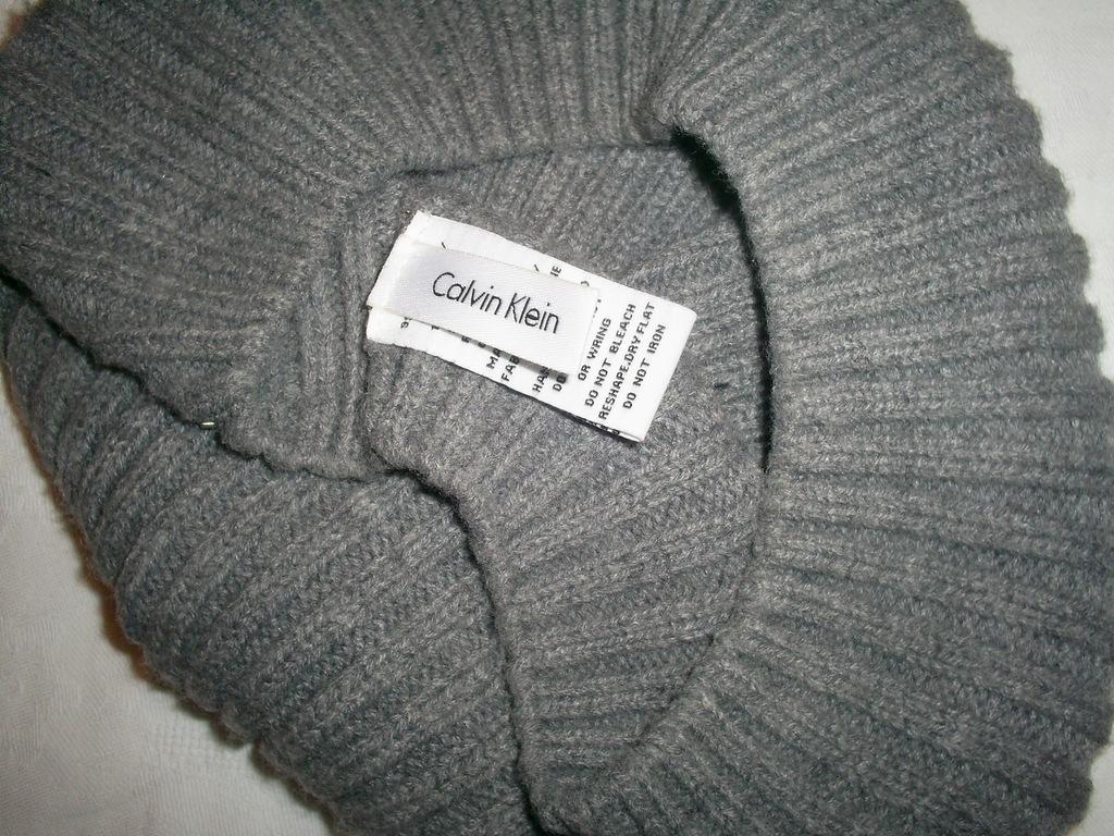 CALVIN KLEIN  czapka beret  uniwersalny na wiosnę