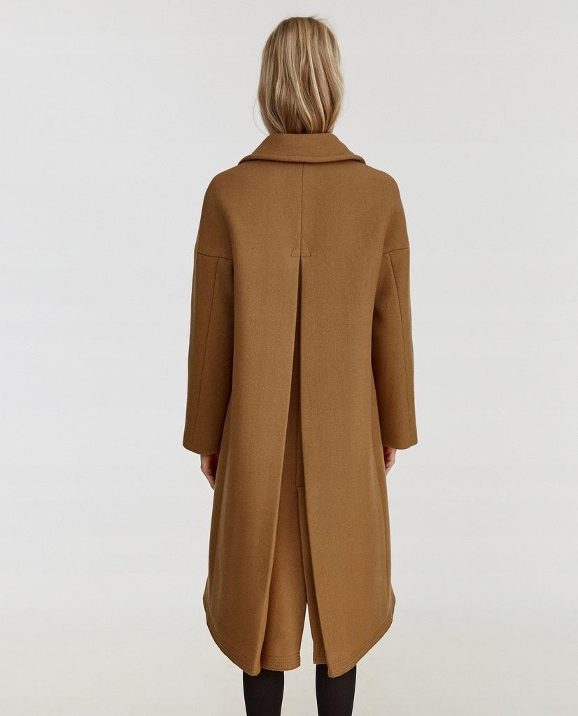 Zara wełniany płaszcz 80% wełna kolor camel hit L 40