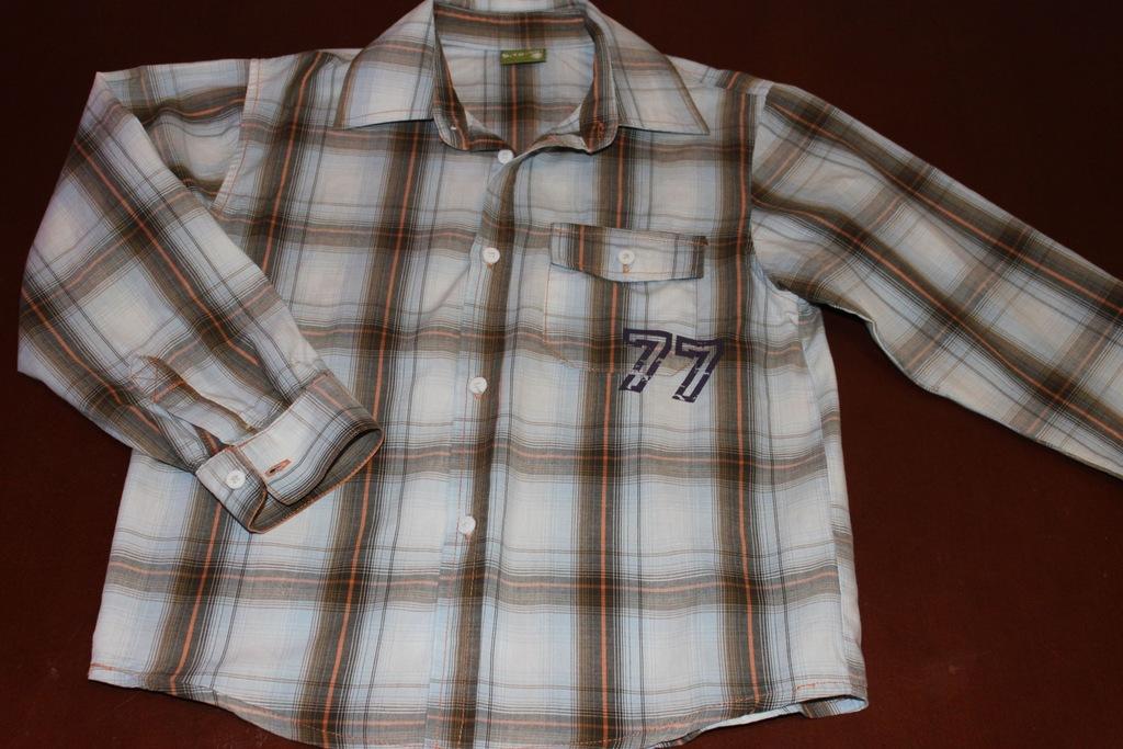 Koszula kratka 5.10.15 rozmiar 122 128 cm, 5 lat  vH3NF