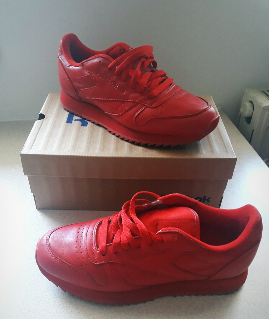 Reebok CL leather ripple mono RED classic 40,5 7358791272