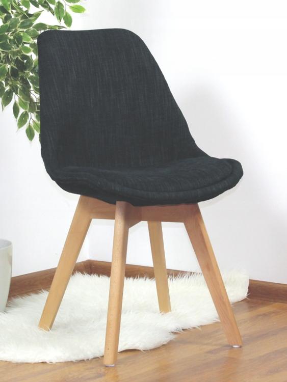 Krzesło tapicerowane CHARLIE TAP A KRIS czarny
