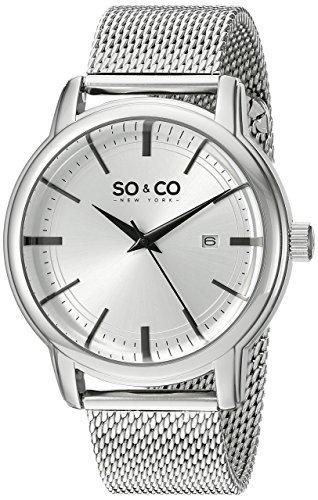 so & co zegarek srebrny męski