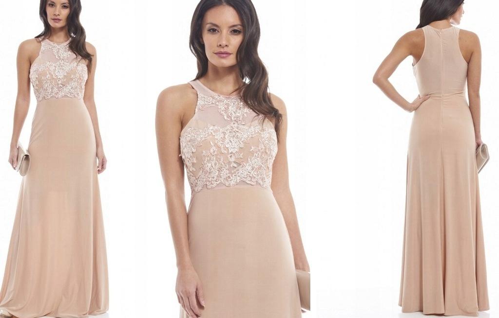 Sukienka PREMIUM BOHO CARMEN PARIS nude beige - eshopper.pl