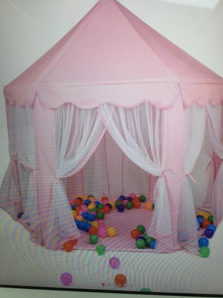 Namiot pawilon moskitiery dla dziecka różowy duży