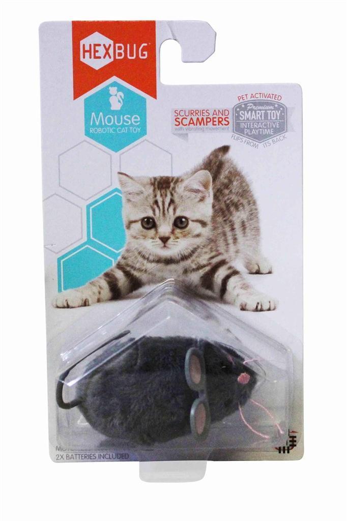 Interaktywna Zabawka dla kota Mysz Hexbug szara kup online