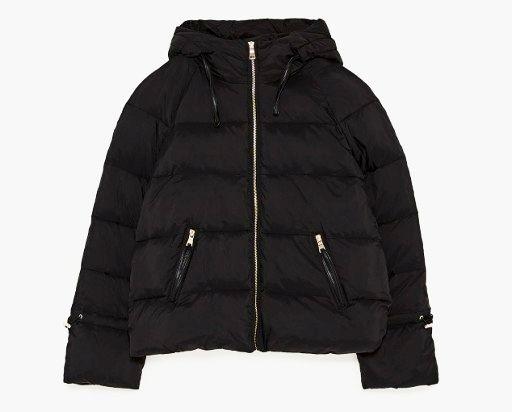 czarna kurtka zara pikowana