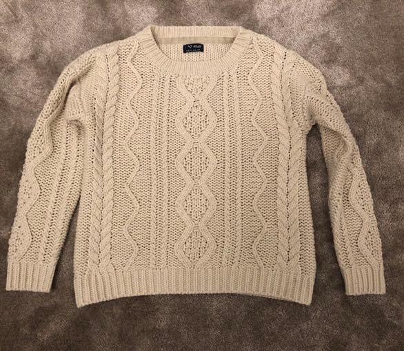 NEXT sweterek o grubym splocie r.140