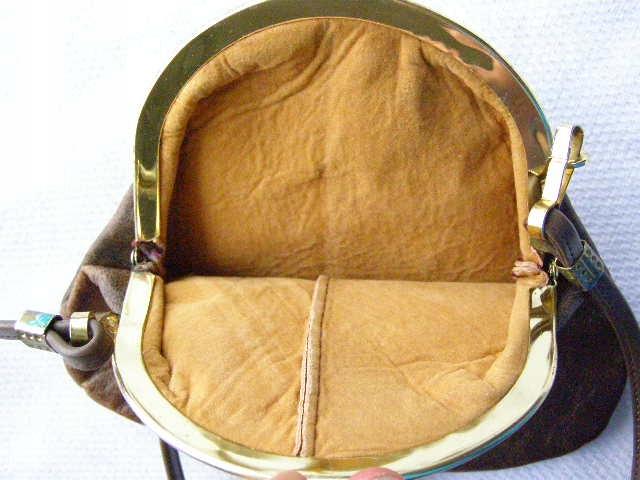 MARC CHANTAL niesamowita skórzana torebka