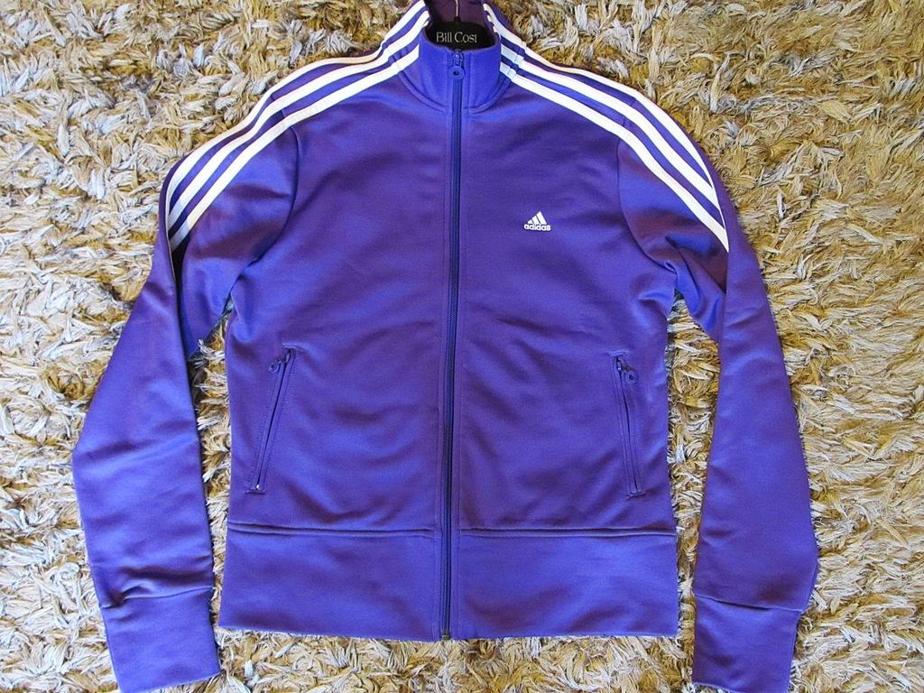wyprzedaż! oryginalna bluza adidas w kratkę, z kieszeniami, bez kaptura, rozmiar 38