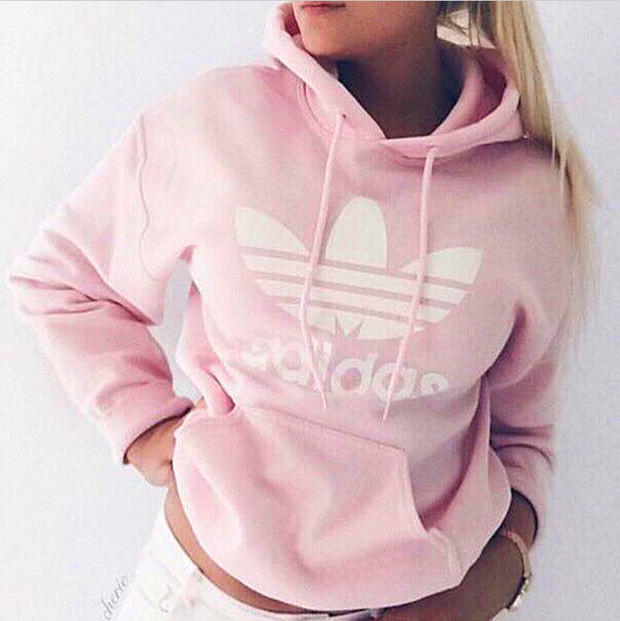 pudrowy róż bluza adidas