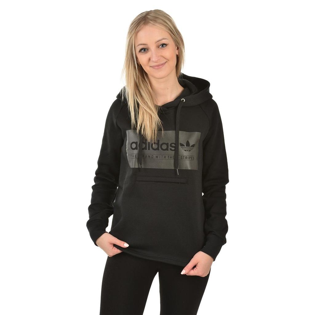 Bluza Adidas Originals z kapturem czarna 40