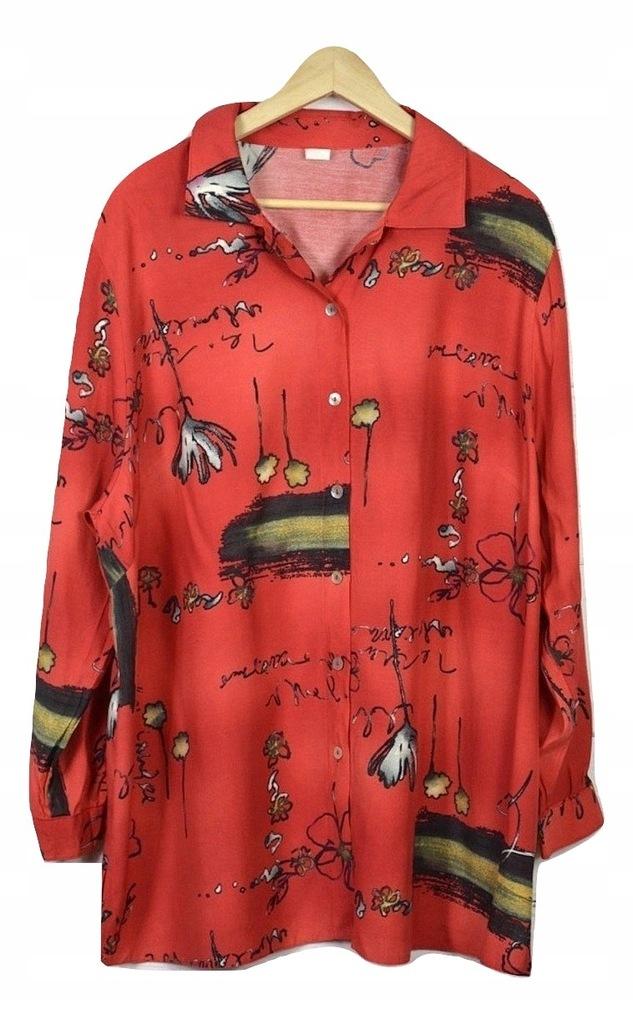 Długa koszula plus size czerwony, 44