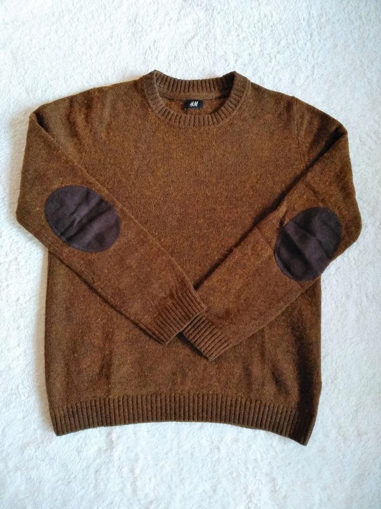Sweterek męski H&M - brązowy - roz. M