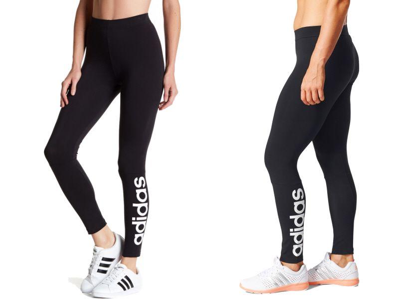 Legginsy damskie Essentials Linear Tight Adidas (czarno