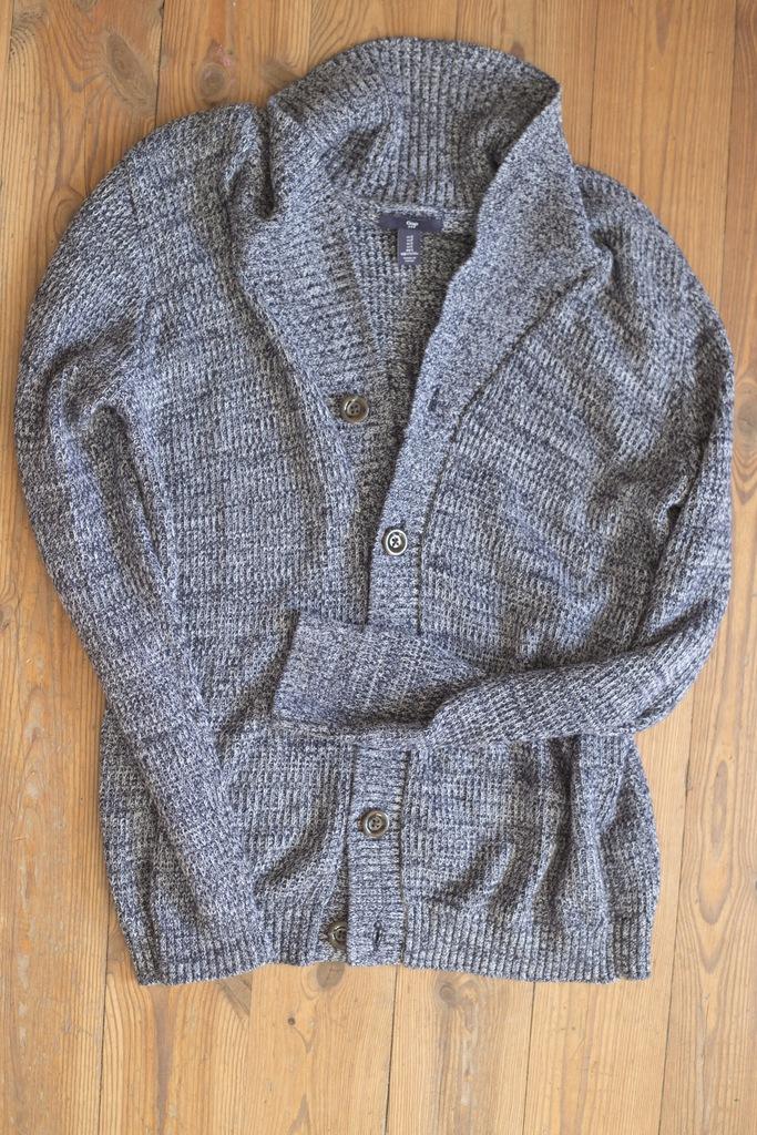 Sweter GAP, rozmiar S, jak nowy, niebieski melanż