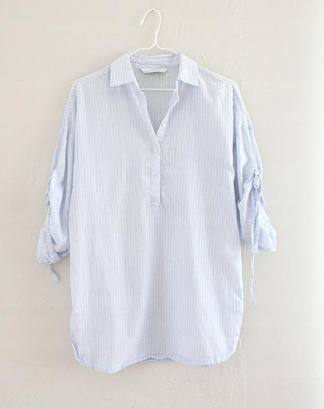 Luźna koszula oversize błękitna